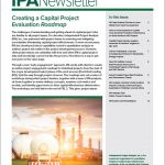 Cover of the March 2019 issue of the IPA Newsletter. Feature article: Creating a Capital Project Evaluation Roadmap